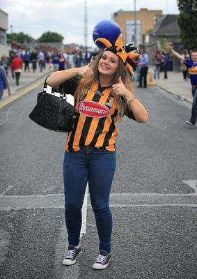 Chloe Hartley from  Ferrybank & Alex Grant from Kilmacow at the All Ireland Hurling Final