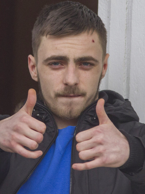Kill threat: Francis McDonagh kicked his girlfriend in the stomach. Photo: North West Newspix