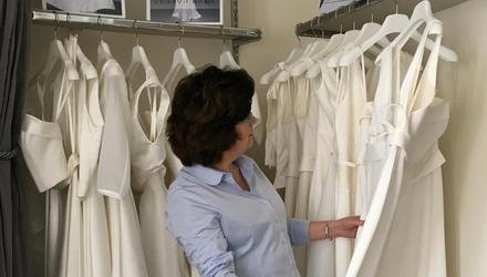 Top wedding-gown designer Sharon Hoey at her luxury bridal boutique on Merrion Street