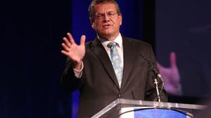 European Commission Vice President Maros Sefcovic. Photo: Damien Eagers