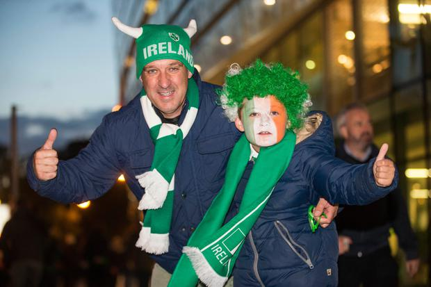 Brian and Cathal Murnane (9), from Naas, Co Kildare Picture: Mark Condren