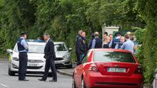 The scene of the shooting on Shelerin Road in Clonsilla.