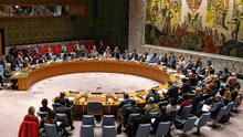 Place at the top table: A meeting of the UN Security Council at its headquarters in New York City in February. Photo: REUTERS