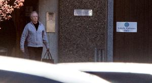 Eamonn Lillis pictured departing from Wheatfield prison