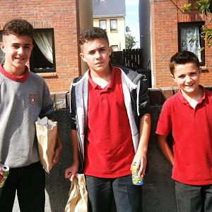 Twins Martin and Christopher Joyce and their 11-year-old brother Daniel