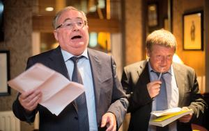 Orator and writer: Pat Rabbitte and John Drennan at the latter's book launch