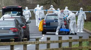 Investigation: Police at the scene near Dungiven