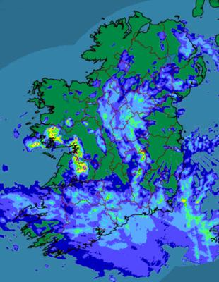 Rainfall over Ireland