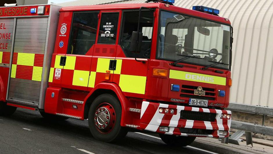 The fire occurred in Cabra at 2:15pm this afternoon.