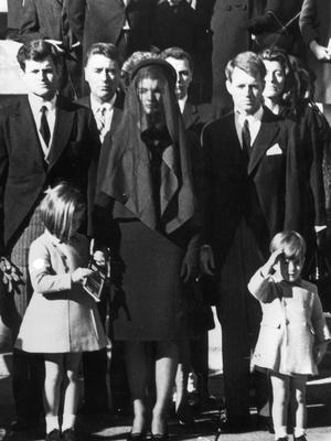 The Kennedy family at the president John F Kennedy's funeral Photo: Keystone/Getty Images