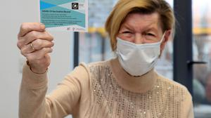 Annie Lynch, the first person to receive the Pfizer BioNTech Covid-19 vaccine in Ireland