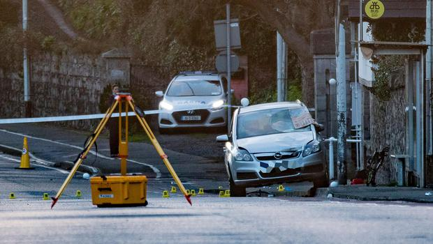 Gardai investigate the death of a cyclist is his thirties who was involved in a collision with a car on Coyngham Road in Dublin. Pictures: Arthur Carron