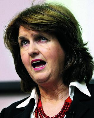 Minister for Social Protection Joan Burton pictured during her address to the Chartered Accountants of Ireland HQ on Pearse Street in Dublin yesterday.  Pic Frank Mc Grath
