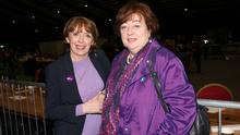 Option: Social Democrats joint leaders Róisín Shortall and Catherine Murphy might be inclined to throw their lot in with Sinn Féin. Photo: Stephen Collins