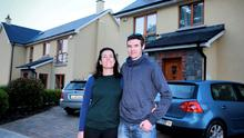 Bernie McNally Brennan and her husband Tony Brennan pictured at Delvin Banks housing estate in The Naul, which was taken over from the developer by Nama. Picture: Arthur Carron