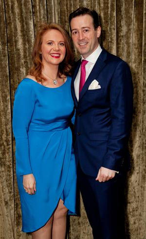 Senator Catherine Noone and Barry Flanagan at her fundraiser in Donnybrook. Photo: Paul Sherwood.