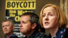 Ruth Coppinger at the launch of the campaign. Photo: Steve Humphreys