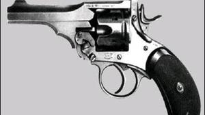 Pictured: A Webley revolver