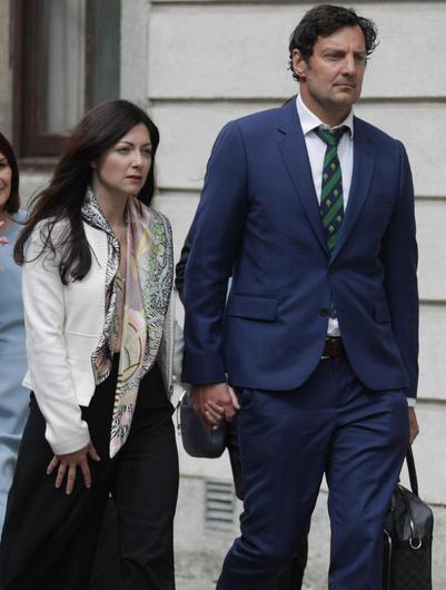 Rebecca Price and Patrick Kiely leaving the Four Courts earlier this week. Photo: Collins Courts.