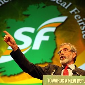 Sinn Fein leader Gerry Adams has called on the Labour Party to collapse the government