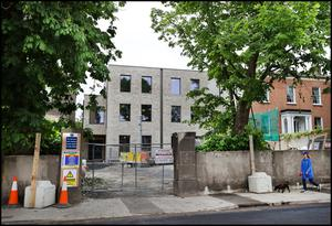 Row: The new building on the site at 37a Highfield Road, Rathgar.  Photos: Steve Humphreys