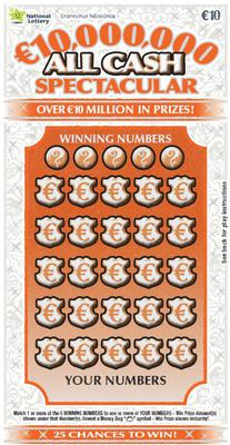 National Lottery scratch card