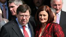 Brian Cowen and his wife Mary. Photos: PA