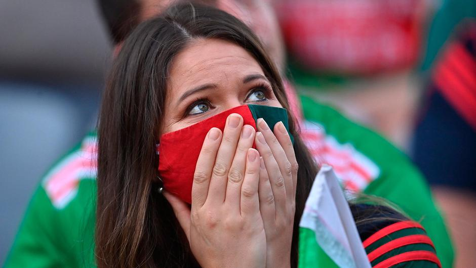 A Mayo supporter looks on during Saturday's All-Ireland SFC final at Croke Park. Photo: Brendan Moran/Sportsfile
