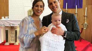 """Mr McAreavey shared a family picture of the christening on his Instagram captioning the picture, """"Special day""""."""