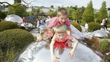 Ronan, Oscar and Amy Nangle of Douglas, Cork, at the Sky Garden