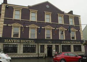 In receivership: Hayes Hotel in Thurles, Co Tipperary