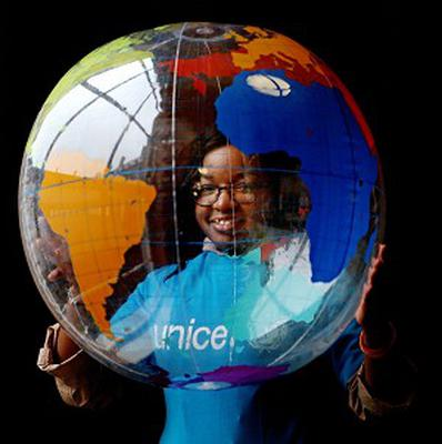 Jennifer Akandu, 16, at the launch of the Unicef report that Dublin is one of the top 10 places for a child to live in the world