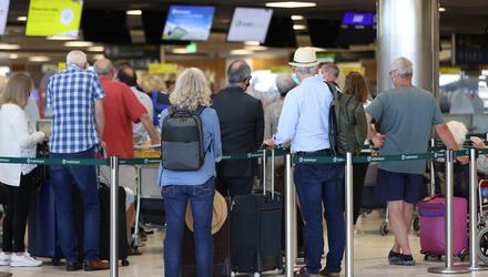 Passengers reported experiencing significant delays at security this morning. (Liam McBurney/PA)