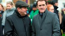 JP McManus, left, speaks with former jockey Tony McCoy. Photo: Sportsfile