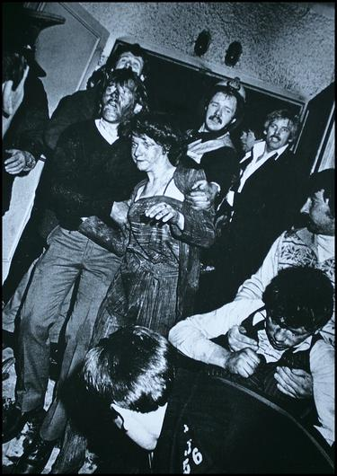 Tragedy: Survivors of the Stardust blaze.  Photo by Myles Byrne from the book Second Sight