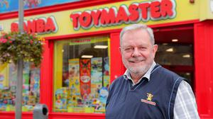 Get in early: Ciarán Fitzpatrick of Banba Toymaster on Mary Street in Dublin. Photo: Gerry Mooney