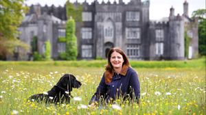 Centenary year: Alicia Clements, Daughter of the Earl of Rosse with Arte in the grounds of Birr Castle. Photo by Steve Humphreys