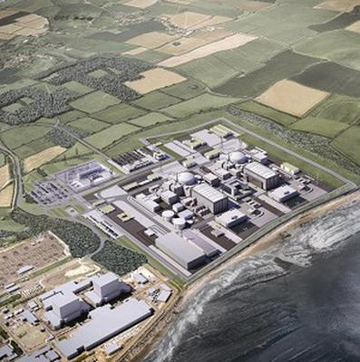 Computer generated image of the planned Hinkley Point C nuclear plant