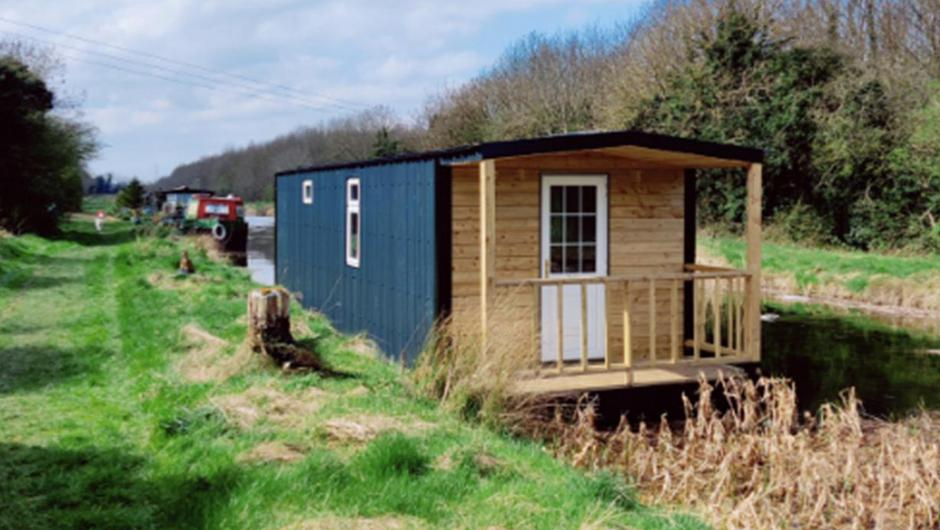 Anthony Hall's DIY houseboat at Lowtown in Co Kildare