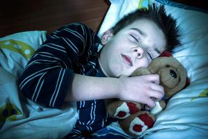 Children who get more sleep are less likely to be overweight. (Picture posed)