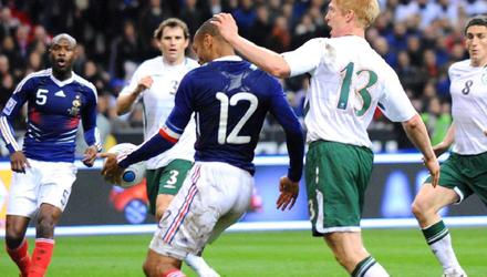Infamous: Thierry Henry's handball which led to the crucial French goal in 2009