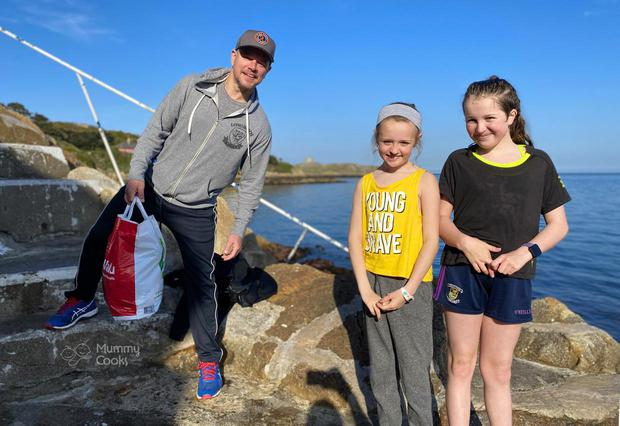 Jessica (9) and Ashleigh Berry (11) met Hollywood actor Matt Damon as he went for a swim at the Vico in Dalkey last year