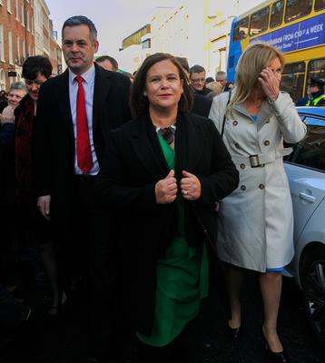Taking the conversation to the people: Sinn Féin leader Mary Lou McDonald's party will stage the first of the public meetings tonight in Co Cork. Photo: Collins