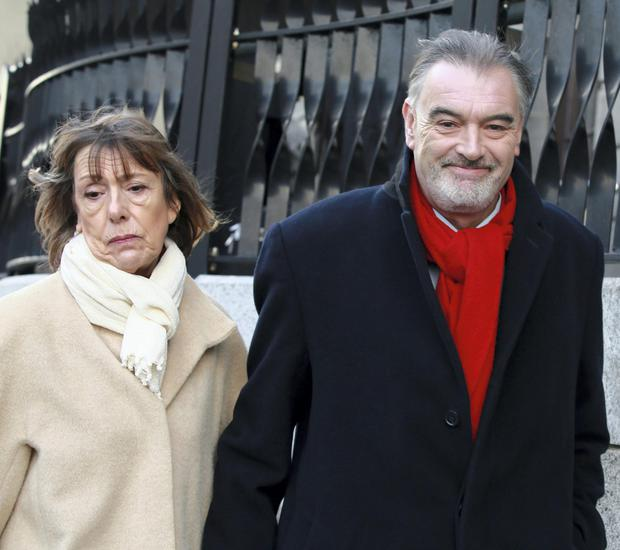 Jules Thomas and Ian Bailey pictured leaving the Four Courts in January 2015