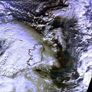 The storm approaching Ireland