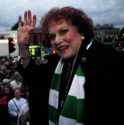 24/9/10 Maureen O'Hara, star of The Quiet Man, at the launch of the Ranelagh Arts Festival in Dublin. Picture:Arthur Carron/Collins