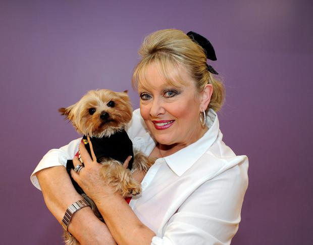 Twink and her dog, Teddy.
