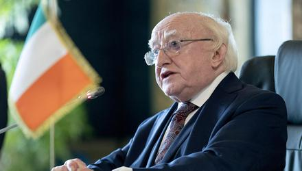 President Michael D Higgins. Picture by Maxwells