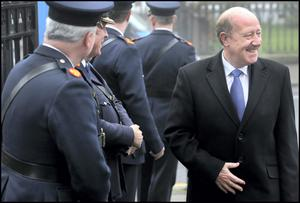 Former Garda Commissioner Martin Callinan attending the Annual Mass for Deceased Members of An Garda Siochana at the Church of the Holy Family