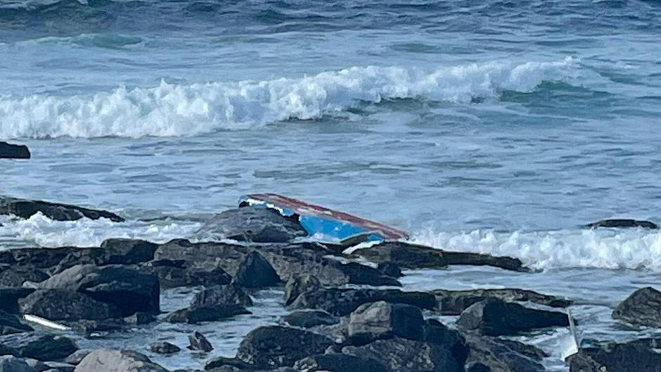 The fishermen, believed to be Polish, got into difficulty after their boat engine failed. Photo: Press 22